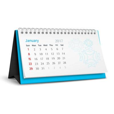 Calendario de Sobremesa Wire-O